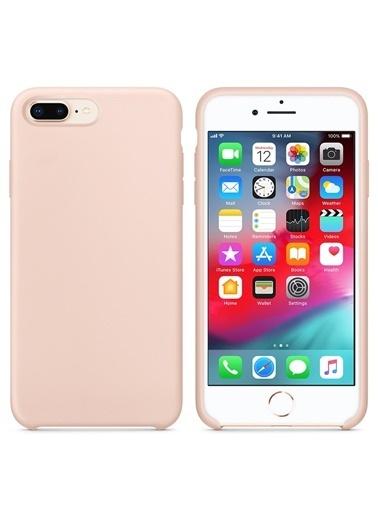 Bludfire Apple iPhone 7 Plus/8 Plus Kılıf Liquid Lansman Silikon Kum Pembesi Pudra